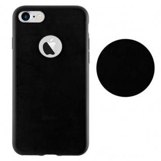 Cadorabo Hülle für Apple iPhone 7 / iPhone 7S / iPhone 8 in CANDY SCHWARZ - Handyhülle aus flexiblem TPU Silikon - Silikonhülle Schutzhülle Ultra Slim Soft Back Cover Case Bumper - Vorschau 2