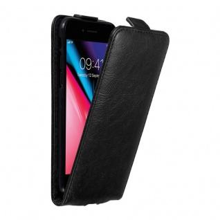 Cadorabo Hülle für Apple iPhone 7 / 7S / 8 / SE 2020 in NACHT SCHWARZ Handyhülle im Flip Design mit unsichtbarem Magnetverschluss Case Cover Schutzhülle Etui Tasche Book Klapp Style