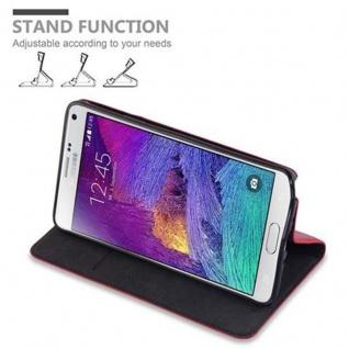 Cadorabo Hülle für Samsung Galaxy NOTE 4 in APFEL ROT - Handyhülle mit Magnetverschluss, Standfunktion und Kartenfach - Case Cover Schutzhülle Etui Tasche Book Klapp Style - Vorschau 4
