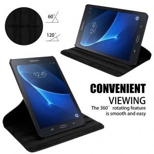 """"""" Cadorabo Tablet Hülle für Samsung Galaxy Tab A 2016 (7, 0"""" Zoll) SM-T280N in HOLUNDER SCHWARZ ? Book Style Schutzhülle OHNE Auto Wake Up mit Standfunktion und Gummiband Verschluss"""" - Vorschau 4"""