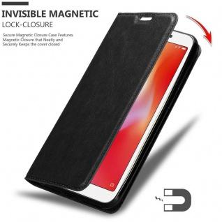 Cadorabo Hülle für Xiaomi RedMi 6 in NACHT SCHWARZ - Handyhülle mit Magnetverschluss, Standfunktion und Kartenfach - Case Cover Schutzhülle Etui Tasche Book Klapp Style - Vorschau 5