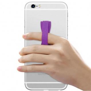Cadorabo - Finger-Halterung Sling Grip für Smartphone / Tablet / iPod / eReader Griff Henkel Sling Schlaufe Riemen in LILA - Vorschau 3