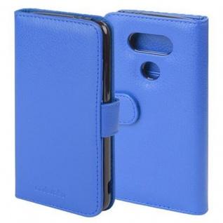 Cadorabo Hülle für LG G5 in NEPTUN BLAU - Handyhülle mit Magnetverschluss und 3 Kartenfächern - Case Cover Schutzhülle Etui Tasche Book Klapp Style