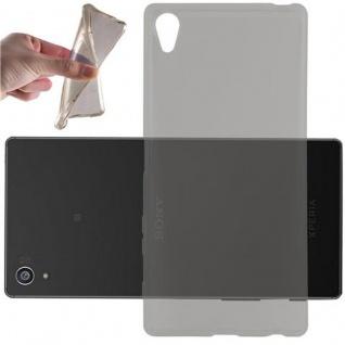 Cadorabo Hülle für Sony Xperia Z5 Premium in TRANSPARENT SCHWARZ - Handyhülle aus flexiblem TPU Silikon - Silikonhülle Schutzhülle Ultra Slim Soft Back Cover Case Bumper