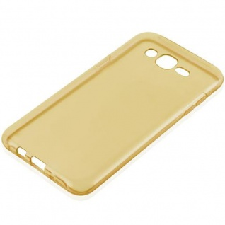 Cadorabo Hülle für Samsung Galaxy J7 2015 in TRANSPARENT GOLD - Handyhülle aus flexiblem TPU Silikon - Silikonhülle Schutzhülle Ultra Slim Soft Back Cover Case Bumper - Vorschau 2