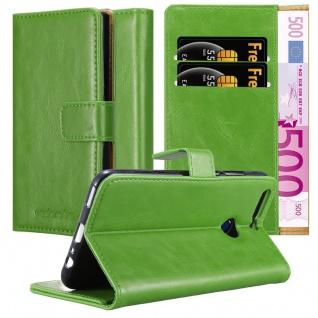 Cadorabo Hülle für Honor 8 PRO in GRAS GRÜN - Handyhülle mit Magnetverschluss, Standfunktion und Kartenfach - Case Cover Schutzhülle Etui Tasche Book Klapp Style