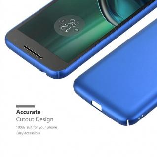 Cadorabo Hülle für Motorola MOTO G4 PLAY in METALL BLAU - Hardcase Handyhülle aus Plastik gegen Kratzer und Stöße - Schutzhülle Bumper Ultra Slim Back Case Hard Cover - Vorschau 5