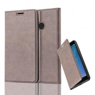 Cadorabo Hülle für Xiaomi Mi MAX 2 in KAFFEE BRAUN - Handyhülle mit Magnetverschluss, Standfunktion und Kartenfach - Case Cover Schutzhülle Etui Tasche Book Klapp Style