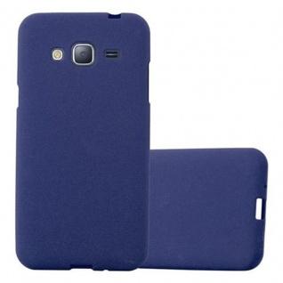 Cadorabo Hülle für Samsung Galaxy J3 / J3 DUOS 2016 in FROST DUNKEL BLAU - Handyhülle aus flexiblem TPU Silikon - Silikonhülle Schutzhülle Ultra Slim Soft Back Cover Case Bumper