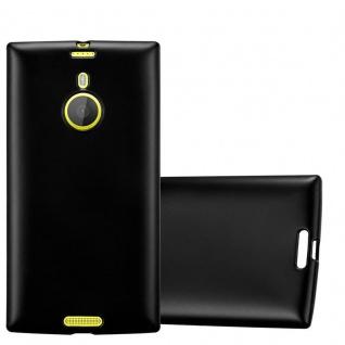 Cadorabo Hülle für Nokia Lumia 1520 in METALLIC SCHWARZ - Handyhülle aus flexiblem TPU Silikon - Silikonhülle Schutzhülle Ultra Slim Soft Back Cover Case Bumper