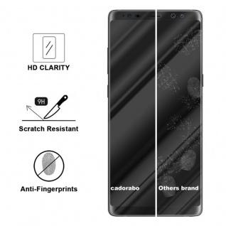 Cadorabo Vollbild Panzer Folie für Samsung Galaxy NOTE 8 - Schutzfolie in TRANSPARENT mit SCHWARZ - Gehärtetes (Tempered) Display-Schutzglas in 9H Härte mit 3D Touch Kompatibilität - Vorschau 3