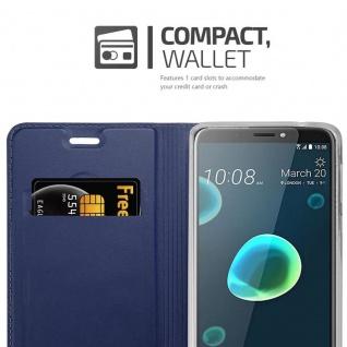 Cadorabo Hülle für HTC Desire 12 PLUS in CLASSY DUNKEL BLAU - Handyhülle mit Magnetverschluss, Standfunktion und Kartenfach - Case Cover Schutzhülle Etui Tasche Book Klapp Style - Vorschau 3