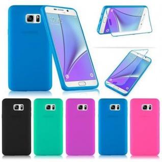 Cadorabo - TPU Silikon Schutzhülle (Full Body Rund-um-Schutz auch für das Display) für Samsung Galaxy NOTE 5 in ALKALI BLAU