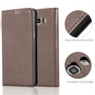Cadorabo Hülle für Samsung Galaxy J5 2016 in KAFFEE BRAUN - Handyhülle mit Magnetverschluss, Standfunktion und Kartenfach - Case Cover Schutzhülle Etui Tasche Book Klapp Style - Vorschau 2