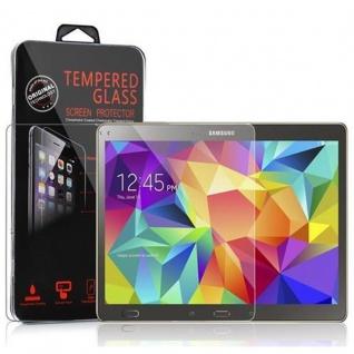 Cadorabo Panzer Folie für Samsung Galaxy Tab S (10, 5 Zoll) Schutzfolie in KRISTALL KLAR Gehärtetes (Tempered) Display-Schutzglas in 9H Härte mit 3D Touch Kompatibilität