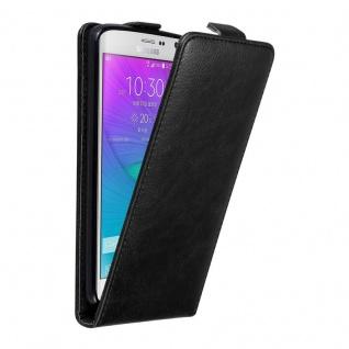 Cadorabo Hülle für Samsung Galaxy NOTE EDGE in NACHT SCHWARZ - Handyhülle im Flip Design mit unsichtbarem Magnetverschluss - Case Cover Schutzhülle Etui Tasche Book Klapp Style - Vorschau 1