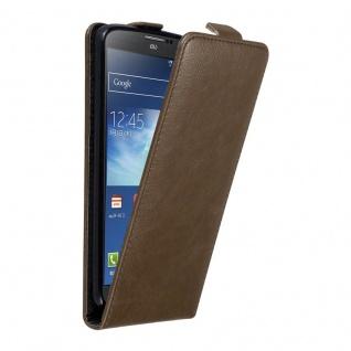 Cadorabo Hülle für Samsung Galaxy NOTE 3 in KAFFEE BRAUN Handyhülle im Flip Design mit unsichtbarem Magnetverschluss Case Cover Schutzhülle Etui Tasche Book Klapp Style