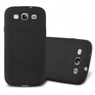 Cadorabo Hülle für Samsung Galaxy S3 in FROST SCHWARZ - Handyhülle aus flexiblem TPU Silikon - Silikonhülle Schutzhülle Ultra Slim Soft Back Cover Case Bumper