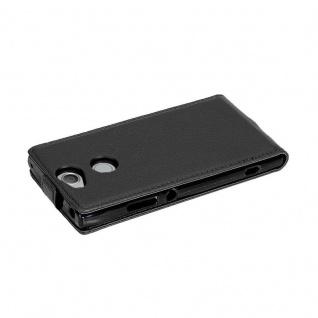 Cadorabo Hülle für Sony Xperia XA2 in OXID SCHWARZ - Handyhülle im Flip Design aus strukturiertem Kunstleder - Case Cover Schutzhülle Etui Tasche Book Klapp Style - Vorschau 3