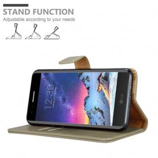 Cadorabo Hülle für LG K8 2017 in CAPPUCCINO BRAUN ? Handyhülle mit Magnetverschluss, Standfunktion und Kartenfach ? Case Cover Schutzhülle Etui Tasche Book Klapp Style - Vorschau 4