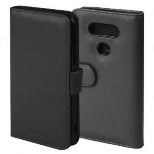 Cadorabo Hülle für LG G5 in OXID SCHWARZ ? Handyhülle mit Magnetverschluss und 3 Kartenfächern ? Case Cover Schutzhülle Etui Tasche Book Klapp Style