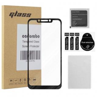Cadorabo Vollbild Panzer Folie für Xiaomi Pocophone F1 - Schutzfolie in TRANSPARENT mit SCHWARZ - Gehärtetes (Tempered) Display-Schutzglas in 9H Härte mit 3D Touch Kompatibilität