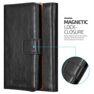 Cadorabo Hülle für LG K10 2016 in GRAPHIT SCHWARZ - Handyhülle mit Magnetverschluss, Standfunktion und Kartenfach - Case Cover Schutzhülle Etui Tasche Book Klapp Style - Vorschau 2