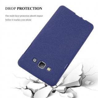 Cadorabo Hülle für Samsung Galaxy A7 2015 in FROST DUNKEL BLAU - Handyhülle aus flexiblem TPU Silikon - Silikonhülle Schutzhülle Ultra Slim Soft Back Cover Case Bumper - Vorschau 5