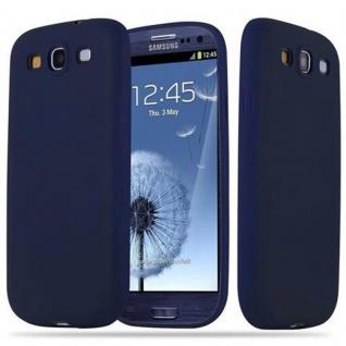 Cadorabo Hülle für Samsung Galaxy S3 / S3 NEO in CANDY DUNKEL BLAU - Handyhülle aus flexiblem TPU Silikon - Silikonhülle Schutzhülle Ultra Slim Soft Back Cover Case Bumper
