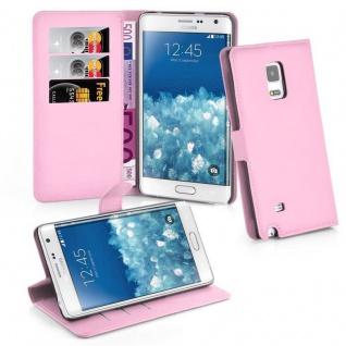 Cadorabo Hülle für Samsung Galaxy NOTE EDGE in LOTUS ROSA - Handyhülle mit Magnetverschluss, Standfunktion und Kartenfach - Case Cover Schutzhülle Etui Tasche Book Klapp Style