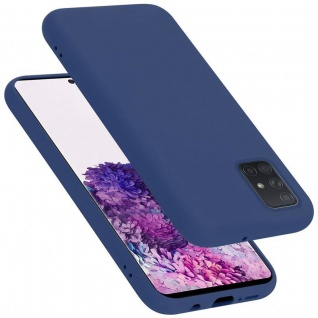 Cadorabo Hülle für Samsung Galaxy A71 in LIQUID BLAU Handyhülle aus flexiblem TPU Silikon Silikonhülle Schutzhülle Ultra Slim Soft Back Cover Case Bumper