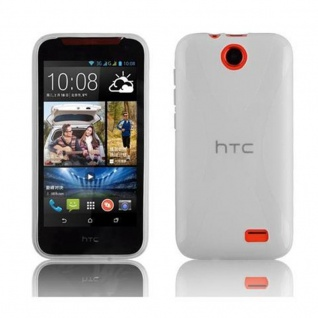 Cadorabo Hülle für HTC Desire 310 in HALB TRANSPARENT ? Handyhülle aus flexiblem TPU Silikon ? Silikonhülle Schutzhülle Ultra Slim Soft Back Cover Case Bumper