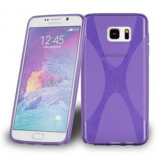 Cadorabo Hülle für Samsung Galaxy NOTE 5 in FLIEDER VIOLETT Handyhülle aus flexiblem TPU Silikon Silikonhülle Schutzhülle Ultra Slim Soft Back Cover Case Bumper
