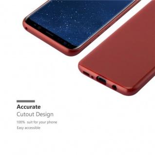 Cadorabo Hülle für Samsung Galaxy S8 in ROT - Handyhülle aus flexiblem TPU Silikon - Silikonhülle Schutzhülle Ultra Slim Soft Back Cover Case Bumper - Vorschau 5