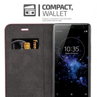 Cadorabo Hülle für Sony Xperia XZ2 in APFEL ROT Handyhülle mit Magnetverschluss, Standfunktion und Kartenfach Case Cover Schutzhülle Etui Tasche Book Klapp Style - Vorschau 3