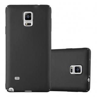 Cadorabo Hülle für Samsung Galaxy NOTE 4 - Hülle in METALL SCHWARZ ? Hardcase Handyhülle im Matt Metal Design - Schutzhülle Bumper Back Case Cover