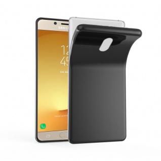 Cadorabo Hülle für Samsung Galaxy J3 2017 in SCHWARZ - Handyhülle aus flexiblem TPU Silikon - Silikonhülle Schutzhülle Ultra Slim Soft Back Cover Case Bumper