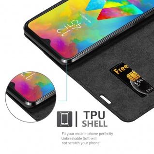 Cadorabo Hülle für Samsung Galaxy M20 in NACHT SCHWARZ - Handyhülle mit Magnetverschluss, Standfunktion und Kartenfach - Case Cover Schutzhülle Etui Tasche Book Klapp Style - Vorschau 2