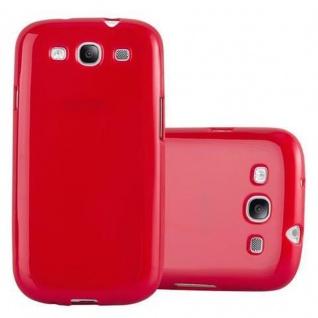 Cadorabo Hülle für Samsung Galaxy S3 MINI in JELLY ROT ? Handyhülle aus flexiblem TPU Silikon ? Silikonhülle Schutzhülle Ultra Slim Soft Back Cover Case Bumper