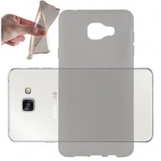 Cadorabo Hülle für Samsung Galaxy A7 2016 in TRANSPARENT SCHWARZ - Handyhülle aus flexiblem TPU Silikon - Silikonhülle Schutzhülle Ultra Slim Soft Back Cover Case Bumper