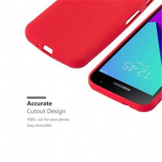 Cadorabo Hülle für Samsung Galaxy XCover 4 in FROST ROT - Handyhülle aus flexiblem TPU Silikon - Silikonhülle Schutzhülle Ultra Slim Soft Back Cover Case Bumper - Vorschau 3