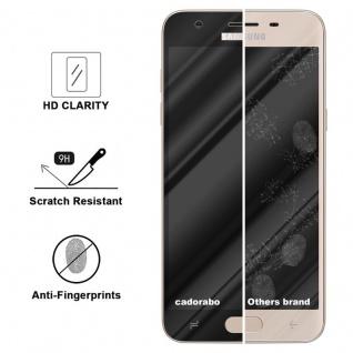 Cadorabo Vollbild Panzer Folie für Samsung Galaxy J3 2018 - Schutzfolie in TRANSPARENT mit SCHWARZ - Gehärtetes (Tempered) Display-Schutzglas in 9H Härte mit 3D Touch Kompatibilität - Vorschau 3