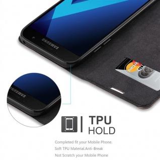 Cadorabo Hülle für Samsung Galaxy A7 2017 in KAFFEE BRAUN - Handyhülle mit Magnetverschluss, Standfunktion und Kartenfach - Case Cover Schutzhülle Etui Tasche Book Klapp Style - Vorschau 3