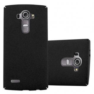 Cadorabo Hülle für LG G4 / G4 PLUS in FROSTY SCHWARZ - Hardcase Handyhülle aus Plastik gegen Kratzer und Stöße - Schutzhülle Bumper Ultra Slim Back Case Hard Cover