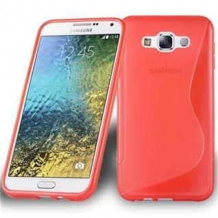 Cadorabo Hülle für Samsung Galaxy E7 2015 in INFERNO ROT ? Handyhülle aus flexiblem TPU Silikon ? Silikonhülle Schutzhülle Ultra Slim Soft Back Cover Case Bumper