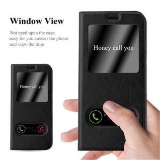 Cadorabo Hülle für Samsung Galaxy S8 in KOMETEN SCHWARZ - Handyhülle mit Magnetverschluss, Standfunktion und 2 Sichtfenstern - Case Cover Schutzhülle Etui Tasche Book Klapp Style - Vorschau 2