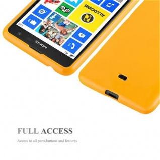 Cadorabo Hülle für Nokia Lumia 625 in JELLY GELB - Handyhülle aus flexiblem TPU Silikon - Silikonhülle Schutzhülle Ultra Slim Soft Back Cover Case Bumper - Vorschau 4