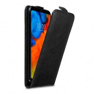 Cadorabo Hülle für LG Q STYLUS in NACHT SCHWARZ Handyhülle im Flip Design mit unsichtbarem Magnetverschluss Case Cover Schutzhülle Etui Tasche Book Klapp Style