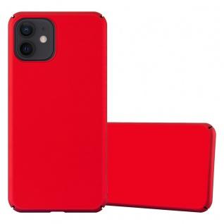"Cadorabo Hülle für Apple iPhone 12 Mini (5, 4"" Zoll) in METALL ROT Hardcase Handyhülle aus Plastik gegen Kratzer und Stöße Schutzhülle Bumper Ultra Slim Back Case Hard Cover"