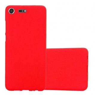 Cadorabo Hülle für Sony Xperia XZ Premium in FROST ROT - Handyhülle aus flexiblem TPU Silikon - Silikonhülle Schutzhülle Ultra Slim Soft Back Cover Case Bumper